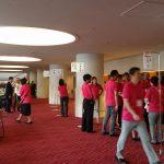 全国肢体不自由特別支援学校PTA連合会総会 場内準備風景