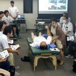 東京在宅サービスの社内勉強会 井上PTによる肩関節周囲炎リハビリテーション_実践1