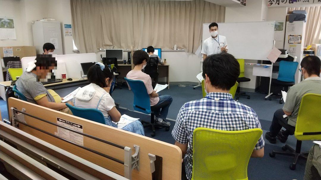 板橋区 訪問マッサージ 東京在宅サービスの研修会活動/ チャレンジド板橋区役所前